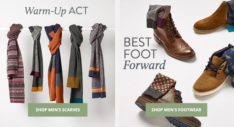 UK - A - Shop Men's Scarves & Shop Footwear