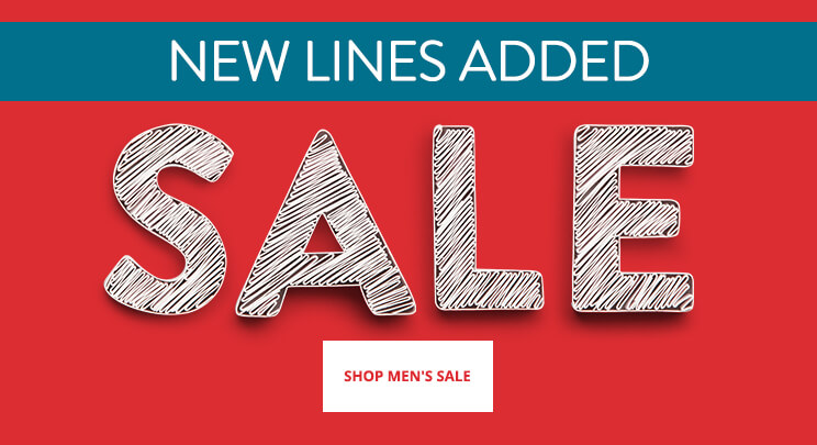 UK - Promo 1 - Sale banner - Sale: new lines added for men